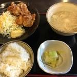 46235795 - ご飯・味噌汁お替り自由の鶏唐定食580円