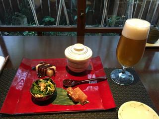 風凛 - 小江戸コース  前菜盛合せ & 地ビール(伽羅)