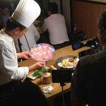 舟木亭 - テレビ朝日羽鳥慎一モーニングショーにて当店のすき焼きが紹介されました。