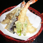 そば処 丸万 - 上天ぷらセット