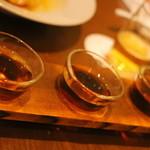 京鼎樓 - 紹興酒飲みくらべセット 1100円