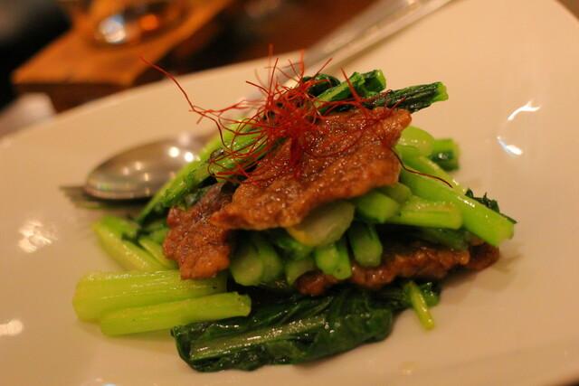 京鼎樓 そごう横浜店 - 今日の一押し 菜っ葉と牛肉の炒め物