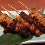 四季菜々 - 焼き鳥盛合せ(4種)タレ