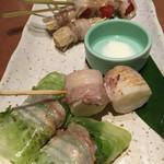 四季菜々 - 肉巻き野菜串焼き5種盛り合せ