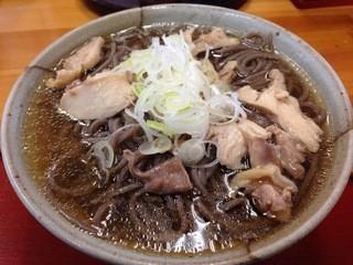 そば処 あお木 - 肉そば ¥650