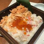 四季菜々 - 蟹と鮭の蒸篭ご飯