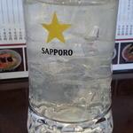 ラーメン 天天館 - ドリンク写真:レモンサワー290円