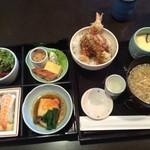旨いもん 角屋 - 小萩膳 + 100円で天丼に変更!