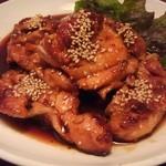 鳥弥三 - 鶏もも1枚ステーキ(照り焼き)