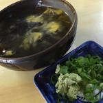 手打ち泰平うどん - 泰平うどん(岡山県岡山市北区東古松)ざるうどんの麺つゆ・薬味