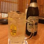 相撲めし 皇風ノ店 - ビールとハイボールで乾杯!