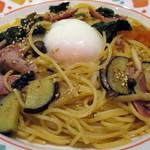 星乃珈琲店 - 具だくさんの星乃スパゲッティー醤油バター風味(アップ)