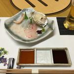 石窯ロースト 絆 - カワハギ、鯛