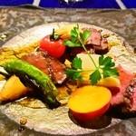 46259852 - 肉料理(黒毛和牛のロースト)