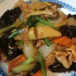 香港美膳 - キクラゲと豚肉の炒め物!