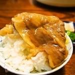 46262816 - お昼のすき焼きコース(すき焼きオンザライス)