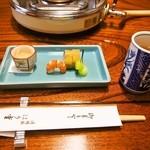 はり重 - お昼のすき焼きコース(前菜)