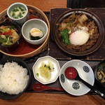 Kagonoya - 選べるランチ 牛すき焼き温玉のせ