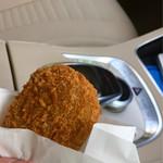 肉のニシジマ - 車の中で頂きました