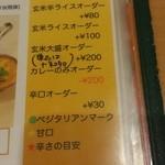 カレーレストラン シバ - 追加メニュー