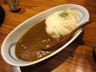 炉端かば 東京浜松町店 - 100729鳥取カレーライス(砂丘らっきょう付き)