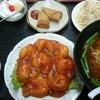 金鼎軒 - 料理写真:エビチリ+台湾味噌ラーメン定食(税込み1180円)