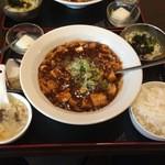 孔風孟習 - 黒麻婆豆腐定食