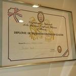 パティスリー アヴァロン - フランス国家資格の認定証