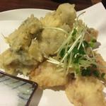 市右衛門 - カキとタコの天ぷら