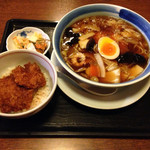里味 - うま煮ラーメンとカツ丼セット