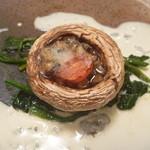 46280877 - 千葉県産ジャンボマッシュルームのオーブン焼き ゴルゴンゾーラソース
