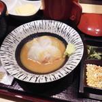 築地寿司清 - 鯛の刺身と胡麻ダレ