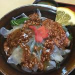 ひらはた - 肝をわさび醤油で溶いてぶっかけ(^^)
