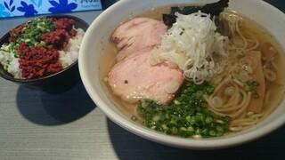 らぁめん 喜乃壺 - 煮干、塩と炭火チャーシュー。台湾ごはん。