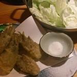 しろきじ - 秋茗荷の天ぷら