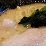 横浜家系ラーメン一刀家 - 豚骨醤油ラーメン 麺カタ アップ2016.1