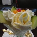 コーヒープラザ 壹番館 - メロンパフェ(1350円)