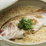 かわな - 土鍋炊き鯛めし(香の物つき)