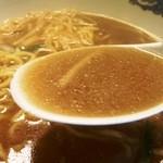 風龍 - 肉炒めスープ融合後の図 美味しい。