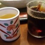 46294823 - そば茶とアイスコーヒー