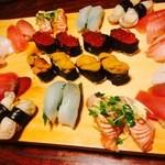 鈴蘭 - おまかせで お寿司4人前