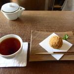 46299311 - お茶と季節の和菓子とひと口菓子のセット 1200円