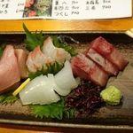 味峯 - 刺し盛り4種(1100円)☆美味しくて安い!