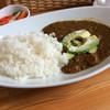 Natsukafe - 料理写真:アボガドカレー ピクルス付き  このピクルスが最高!