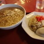 食じ処 龍園 - 料理写真:玉ネギ中華とミニチャーハン 950円