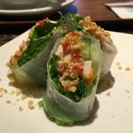 タイレストラン タニサラ - グリーンカレーセットの生春巻