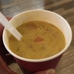 ジューシーヒャクパーセント - 本日のスープ(枝豆と野菜のクリームスープ)300円
