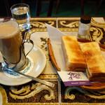 コーヒー ボン - カフェオレ       バタートースト