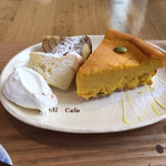 46313643 - ケーキセット(宿儺かぼちゃのチーズケーキ)