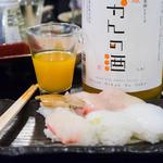 魚の上よし - 2016.1 栄光酒造さんのみかんの酒もあります
